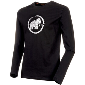 Mammut Logo Langarm Shirt Herren black